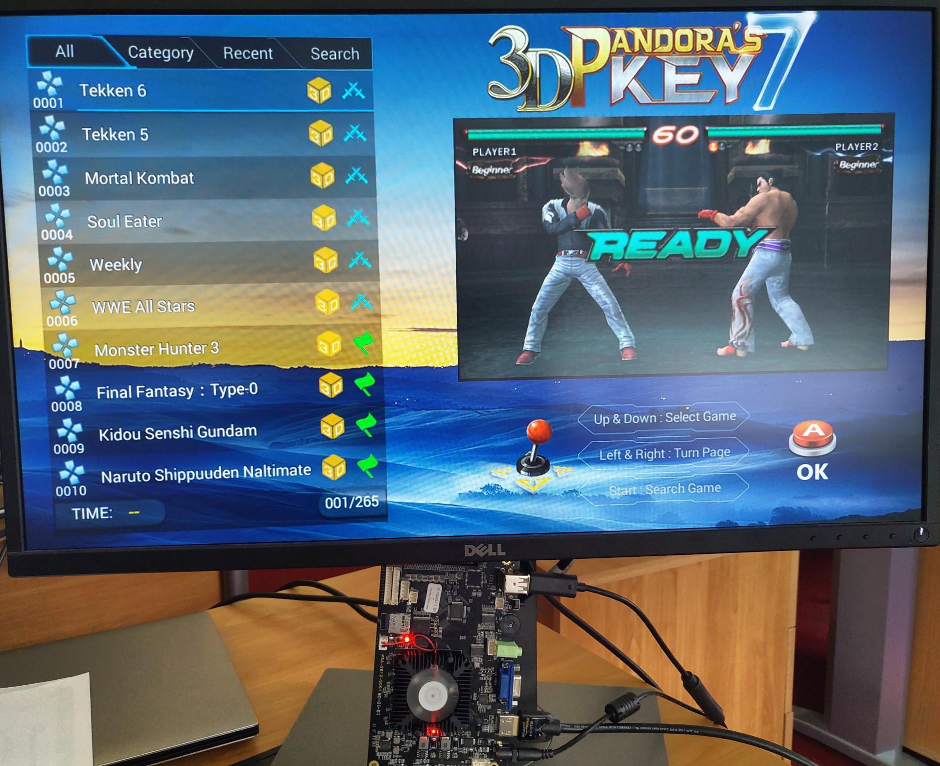 Test d'une 3D Pandora's Key 7